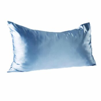 Every Second Counts Satin Pillowcases Baby Blue