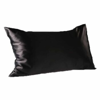 Every Second Counts Satin Pillowcases Black